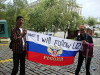 russian fans waiting for Bono