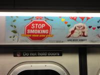 Мама, не пей! Точнее, не кури. Социальная реклама в подземке NY