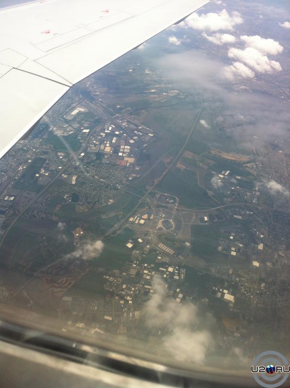 New meadowlands stadium, NJ - с высоты птичьего полета.