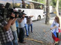 Оля дает интервью турецк. ТВ. 2 дня до концерта.