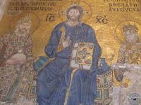 Сохранившаяся роспись внутри храма св.Софии