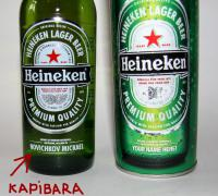 капибара на бутылке хейникен